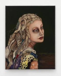 The moon, like a flower, 2012 Oil on linen